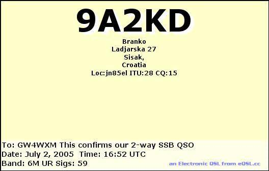 our 2005 2010 qsl cards
